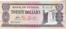 Guyana 20 Dollars (1989) Unc , Pick 27 - Guyana