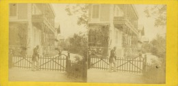 STEREO France, Vichy Le Châlet De L'Empereur     Tirage Albuminé   8,5x17   Circa 1870 - Photos Stéréoscopiques