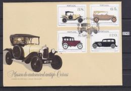 PORTUGAL 1992, FDC, CARS, OLD CARS, CITROEN, AUSTIN SEVEN, MERCEDES, ROCHET, LISBOA 6. MAR. 1992,, See Scans - FDC