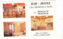 25588 Lanrivoare -place Eglise -bar Hotel Chez Memene Et Noel - Cartisabelle - Non Classés