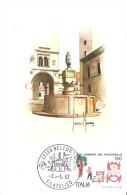 Cartolina MAXIMUM - XXIV GIORNATA DEL FRANCOBOLLO - Belluno 1983 - Fontana Di Piazza Duomo - Manifestazioni