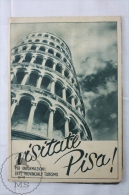 Old 1950's Italy Tourism Brochure / Map - Visit Leaning Tower Of Pisa - Folletos Turísticos