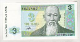 Kazakhstan 3 Tenge 1993 Unc - Kasachstan