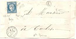 Hautes Pyrénées - Rabastens De Bigorre . GC + CàD Type 16 - 1849-1876: Classic Period