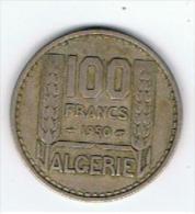 Pièce  100 Francs  Algérie  1950 - Argelia