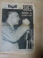 Radar 12 Août 1956 Nasser Canal De Suez Flotte De Toulon Incendie Marseille Sylvestre Bindi  Cayenne Bagne Guyane Grève - Livres, BD, Revues