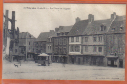Carte Postale 22. Tréguier  La Place De L'Eglise   Trés  Beau Plan - Tréguier