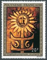 POLYNESIE 1973 - Yv. PA 77 ** TB  Cote= 11,00 EUR - Tableau De J-F Favre ..Réf.POL22821 - Poste Aérienne