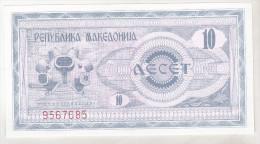 Macedonia 10 Denar 1992 Unc , Pick 1 - Macédoine