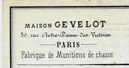 RARE ENTETE MAISON GEVELOT 1863 SUR 4 PAGES LITHOGRAPHIEES DESCRIPTIF ET TARIF B.E.V.SCANS+HISTORIQUE - 1800 – 1899