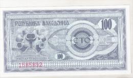 Macedonia 100 Denar 1992 Unc , Pick 4 - Macédoine
