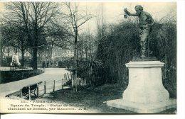 PARIS (IIIe) - Square Du Temple  Avec Statue De Diogène - District 03