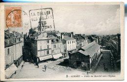 GUERET (23) - Place Du Marché Vers L'Eglise - Guéret