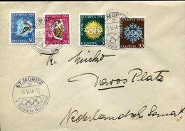 5671 Switzerland, Circuled Cover 1948 St. Moritz  Winter Olympiade. - Winter 1948: St. Moritz