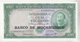 Mozambique 100 Escudos 1961 Unc - Mozambique