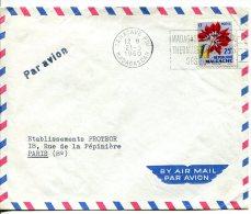 MADAGASCAR - Lettre Par Avion  De Tamatave Pour Paris - Madagascar (1960-...)