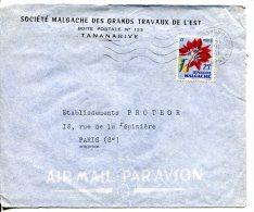 MADAGASCAR - Lettre Par Avion Pour Paris - Madagascar (1960-...)