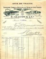 HAMEÇONS.CANNES & ARTICLES DE PECHE EN TOUS GENRES.S.ALLCOCK & Cie 171 RUE CHARENTON.PARIS. - Non Classés