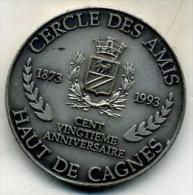Medaille Cercle Des Amis Du Haut De Cagnes___numeroter - Professionnels / De Société