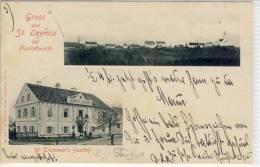 ST. OSWALD Bei PLANKENWARTH Trummer's Gasthof Panorama 1902 Rostachteckstempel VINTAGE POSTCARD - Österreich