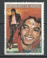 "Guinée Aerien YT 208 "" Mickael Jackson "" 1986 Neuf** - Guinée (1958-...)"