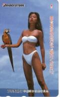 Femme Girl Maillot De Bain Perroquet Parrot Carte Card Karte B 647 - Characters