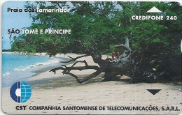 Sao Tome And Principe - CST - Tamarinds Beach - 1999, L&G - 4.000ex, Used
