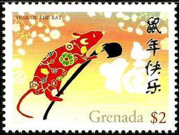 Grenada - 2007 - Lunar New Year Of The Rat - Mint Stamp - Grenada (1974-...)