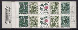 FLORES  - SUECIA 1968 - Yvert#CARNET590** Precio Cat€15 - Végétaux