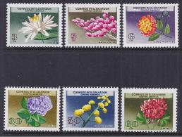 FLORES - EL SALVADOR 1964 - Yvert #697/702 - MNH ** - Plants