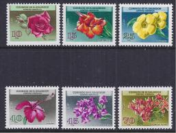 FLORES - EL SALVADOR 1964 - Yvert #A194/99 - MNH ** - Plants