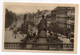 Tchèquie--PRAGUE--PRAHA--1947--Vaclacske Nameati (animée,tramway) 14 X 9 éd FN - Tchéquie
