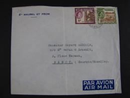 """GAMBIA - """"Historia Postal"""" GAMBIA>NANCY (descrizione) - Gambia (...-1964)"""
