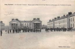 LORIENT -  Le  Quartier Frebault  - Départ Pour Une Manoeuvre D'une Batterie De Campagne De L'artillerie Coloniale ( Vil - Lorient