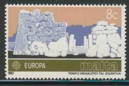 Malta 1983 Mi 680 YT 668 ** Ggantija Megalithic Temples, Gozo / Megalithischer Tempel, Ggantija (ca. 3000 V. Chr.) - Archeologie
