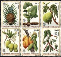 SAO TOME AND PRINCIPE, 1981, FRUITS, FAO, R#332-37; YV#653-58, MNH - São Tomé Und Príncipe