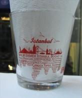 AC - COLA TURKA - ISTANBUL # 2 BOSPHORUS BRIDGE ILLUSRATED GLASS FROM TURKEY - Bicchieri