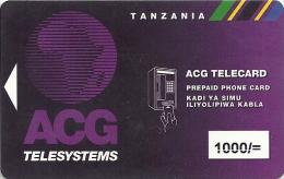 Tanzania - ACG Telesystems Ltd. - ACG Telecard 1.000Sh, Used