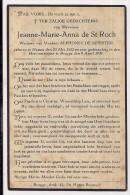 DP Jeanne Marie Anna De St ROCH - De Meester - Namen - Brugge - 1852 / 1936 - Overlijden