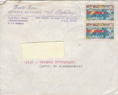 A3574 - Coppia 25£ Canoa  Su Busta Istituto Salesiano Richelmy  VG Torino-Varengo Monferrato 26-07-1971 - 6. 1946-.. Repubblica