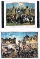 REVOLUTION FRANCAISE . Les Grands Hommes + Prise De La Bastille . Lot De 2 Cartes . - Histoire