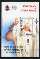 Cape Verde, Cabo Verde, 1990, Pope, MNH No Control Number, Michel Block 16 - Cape Verde