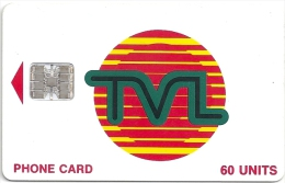 Vanuatu - Telecom Vanuatu - Tvl Logo Red 60Units Chip Sc7, Used - Vanuatu