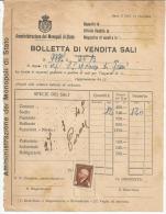 MB12 --- MARCA DA BOLLO -- SU DOCUMENTO DEL 27..3...1945.--- LUOGOTENENZA --- - Italia