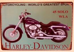 HARLEY DAVIDSON MOTORCYCLE - TIN SIGNS - Plaque Métallique Publicitaire Décorative - Plaques Publicitaires
