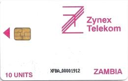 Zambia - Zynex Telecom - Logo 10Units XFBA, 1998, Used