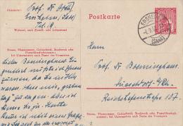 SAAR UNIVERSITY, SAAR PROVINCE, PC STATIONERY, ENTIER POSTAL, 1950, GERMANY - Deutschland