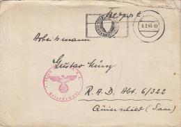 WARFIELD COVER, 3RD REICH ROUND STAMP, CAUTION POSTMARK, WW2, 1943, GERMANY - Briefe U. Dokumente