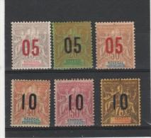 Sénégal - Indép.- Groupe  Surchargé N°48/53 (1912 )