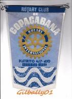 Fanion:   COPACABANA - DISTRITO 457-RIO - BRASIL     * ROTARY CLUB INTERNATIONAL * - Organisations